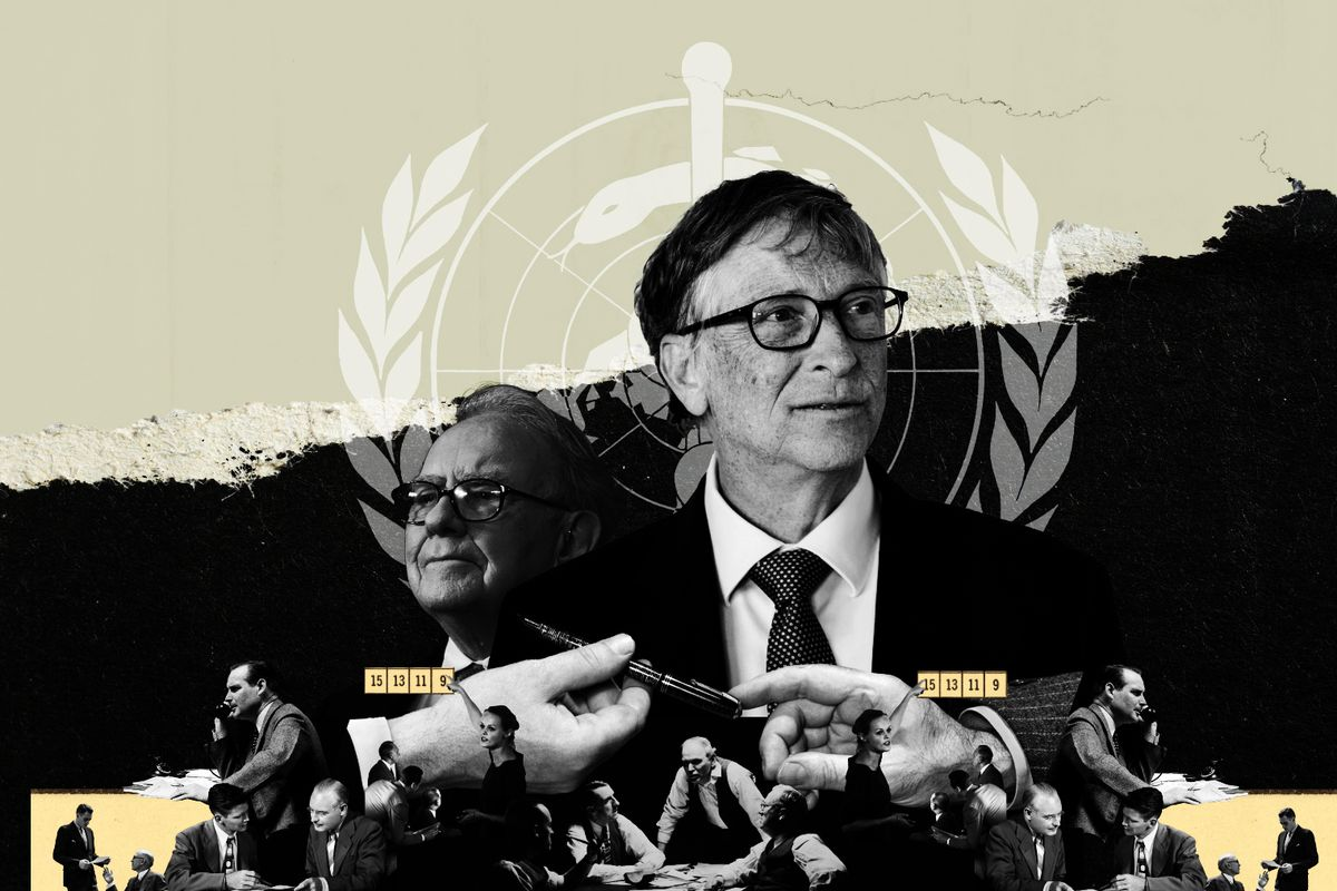 An illustration of Bill Gates and others.