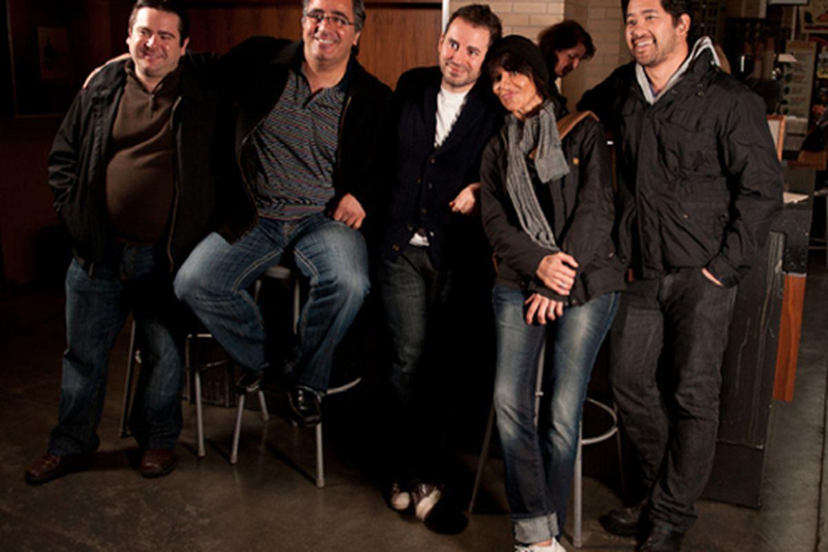 From left: Jeff Baker, Hoss Zare, Matthew Accarrino, Dominique Crenn, Brandon Jew.