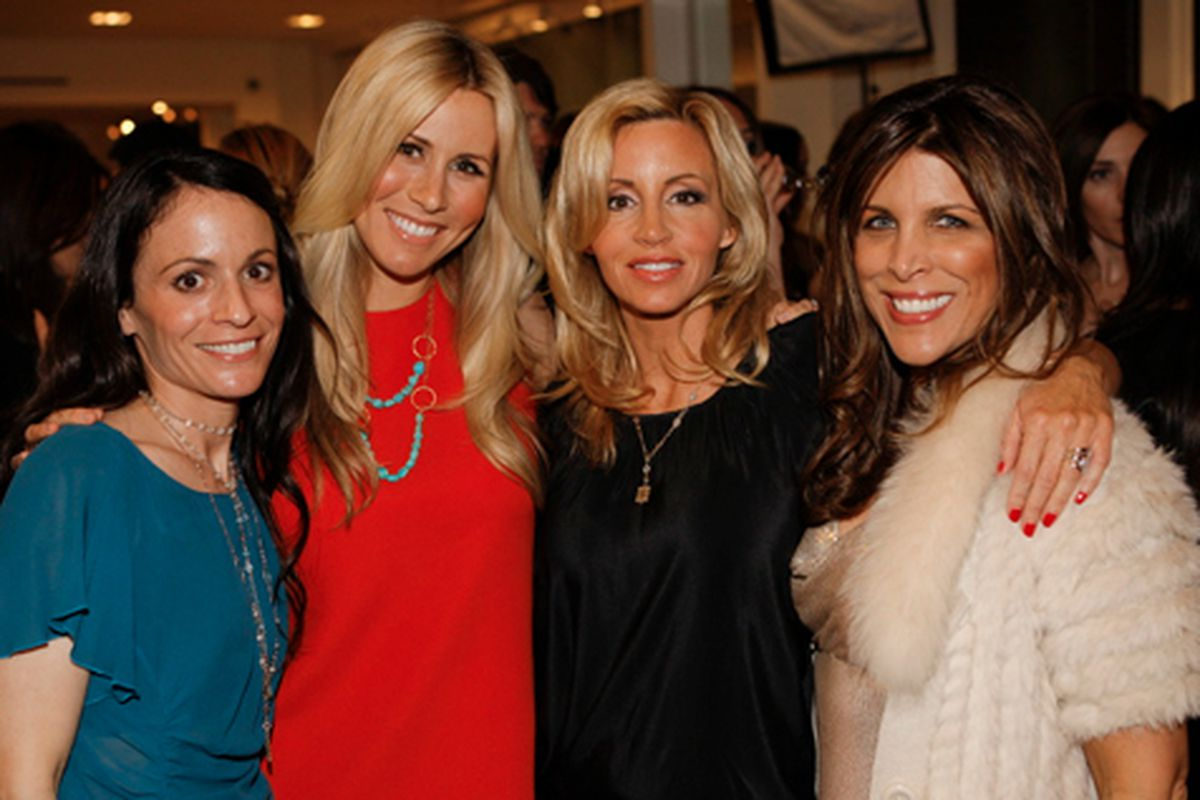 Nina Segal, Julie Martin, Camille Grammer and Tricia Small Stabile. Photo courtesy of AMOREphosis.