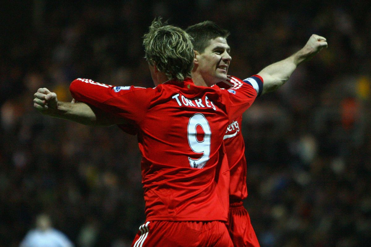 """""""No...wait...BOTH arms parallel to the ground, Stevie..."""" Fernando took celebrations very seriously."""