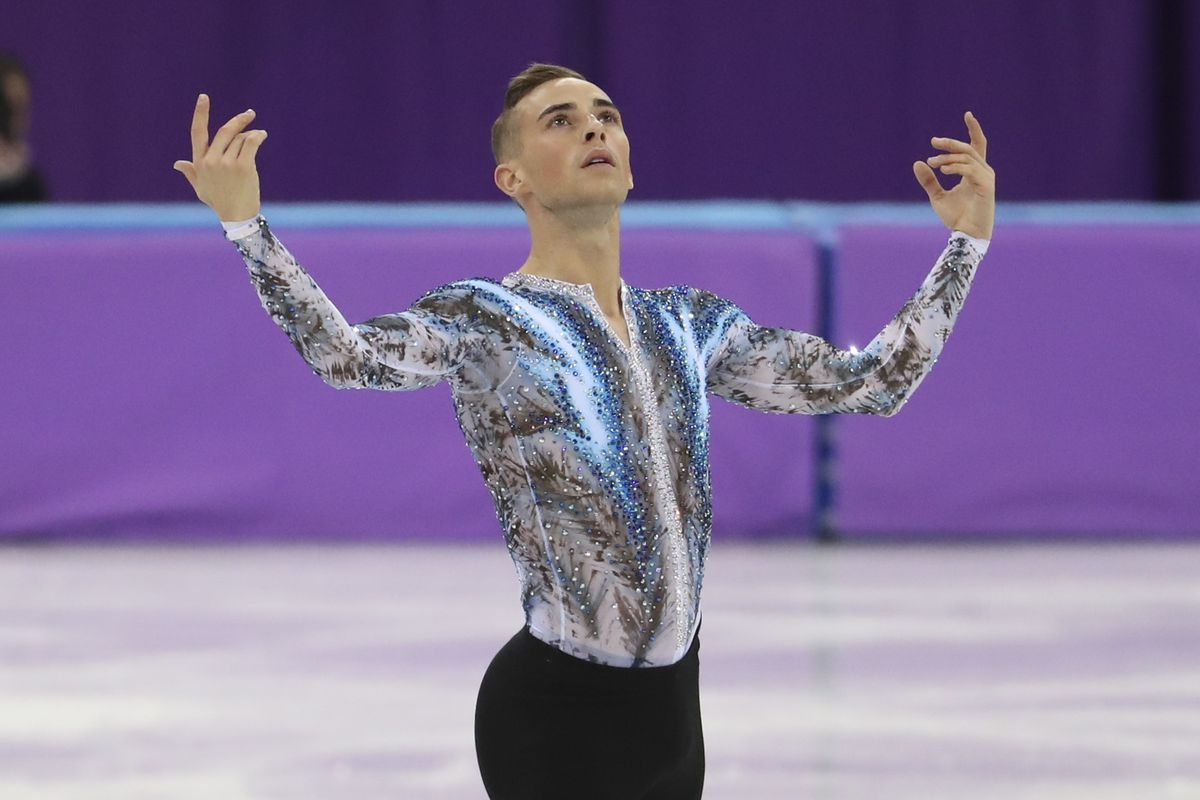 c312a78ba75dd3 Adam Rippon of USA competes in the Men Free Skating during the Figure  Skating Team Event