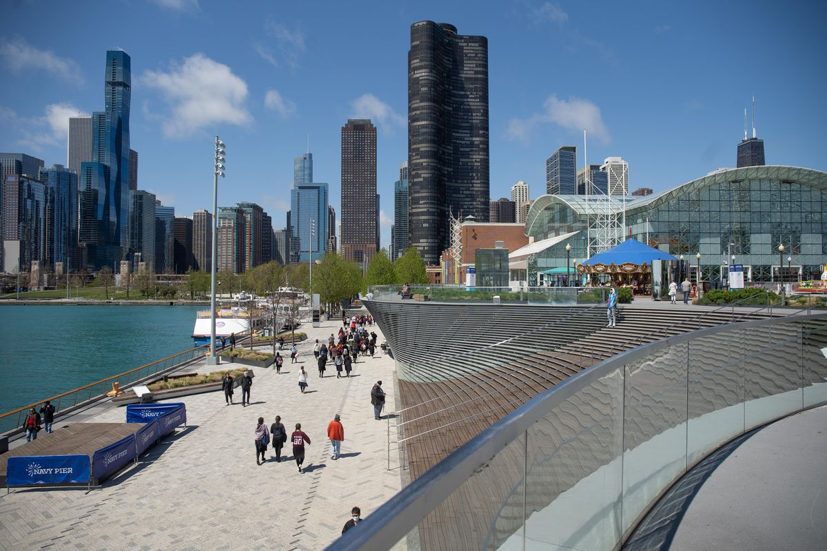 People once again can visit Navy Pier, which was shut down for much of the pandemic.