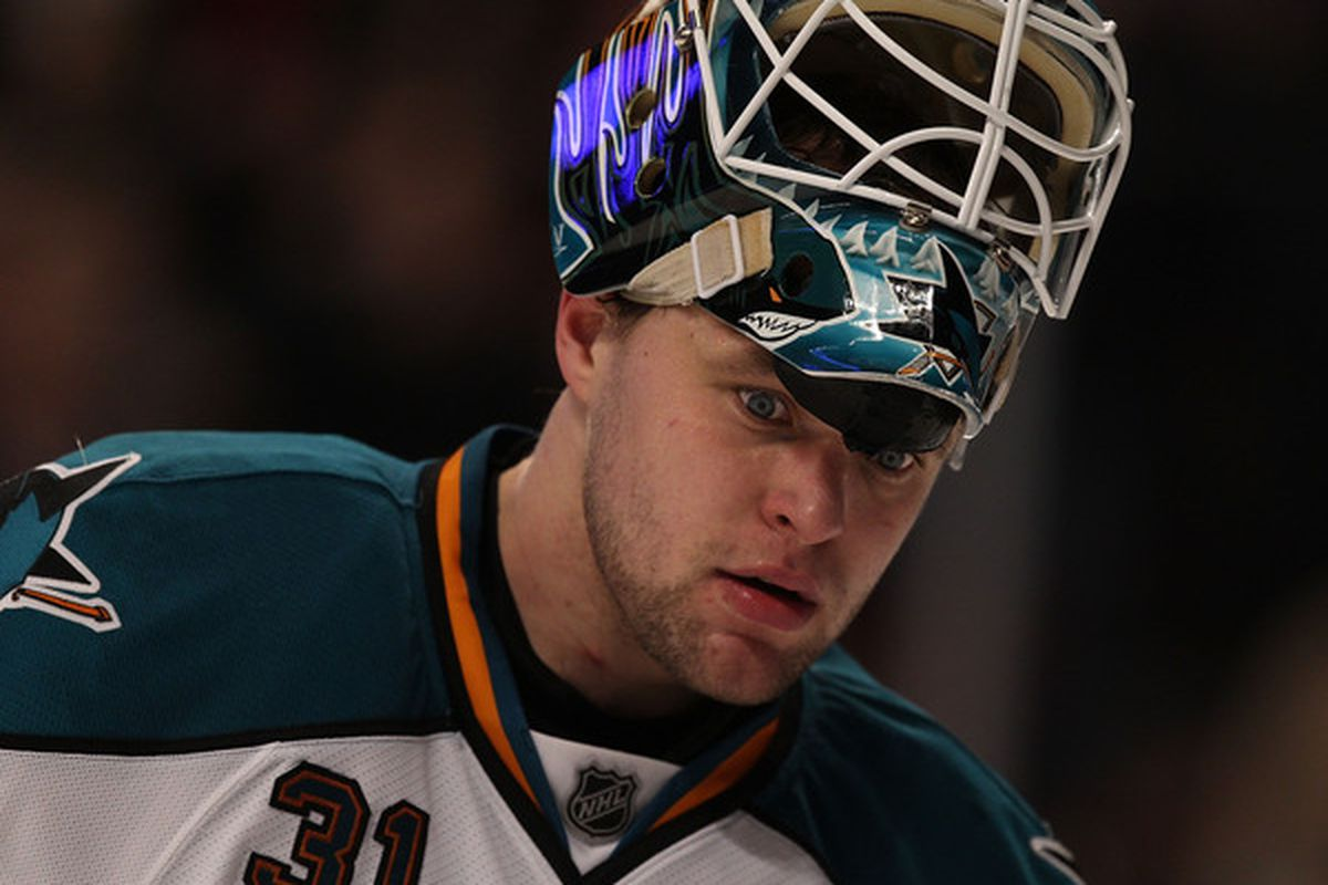 I think the pressure has finally gotten to Niemi. He looks like he's snapped.