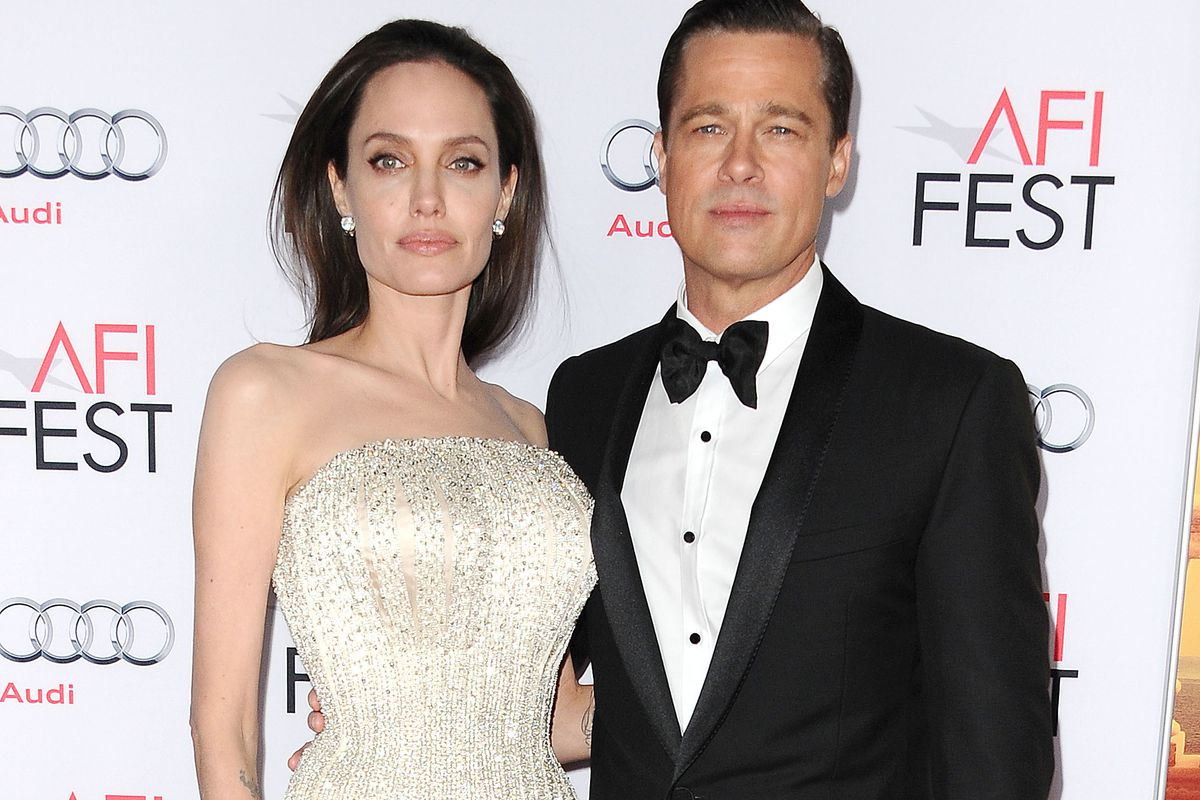 Angelina Jolie and Brad Pitt attend the premiere of By the Sea at the 2015 AFI Fest at TCL Chinese 6 Theatres on November 5, 2015, in Hollywood, California.