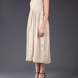 """Perfect for a beachy wedding: send your bridesmaid down the aisle in a textile-savvy <a href=""""http://www.aceandjig.com/"""">Ace & Jig</a> dress. Cape Tank Dress, $230; available at <a href=""""http://www.miramirasf.com/"""">Mira Mira</a>, 3292 22nd St, San Francis"""