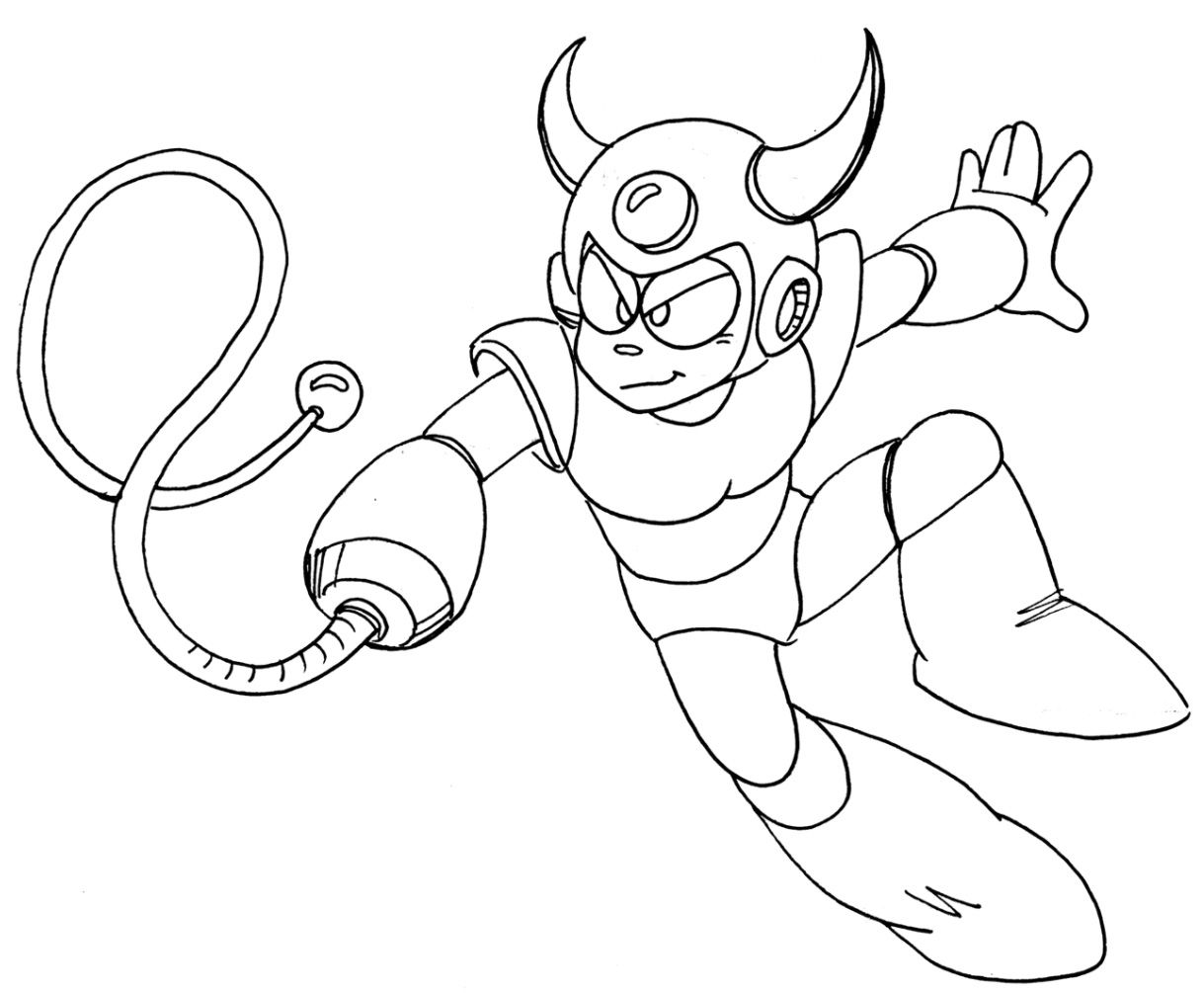 Megaman x coloring pages - Mega Man Legacy Collection Devil