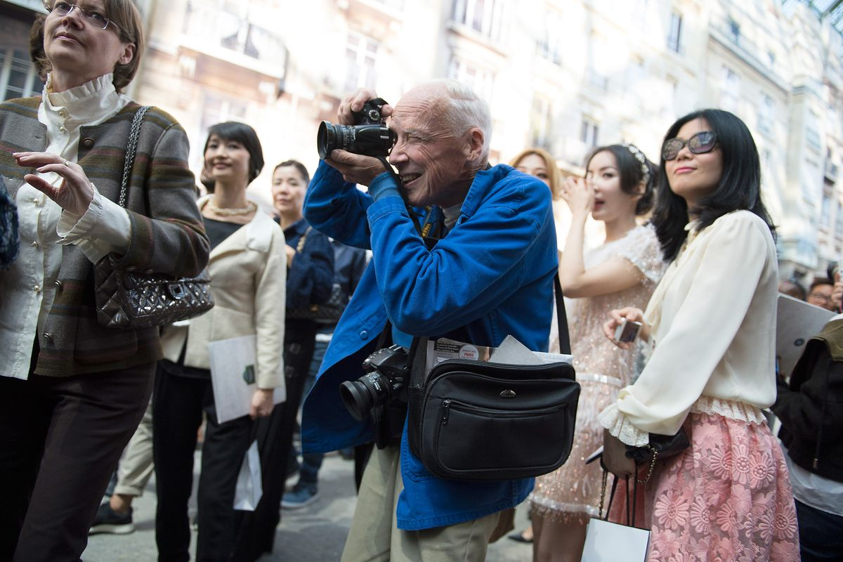 Bill Cunningham on the streets of Paris.