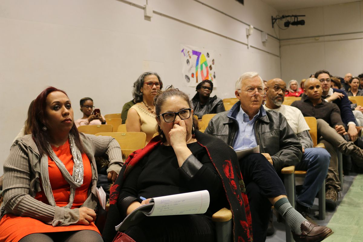 A community meeting in Harlem in February