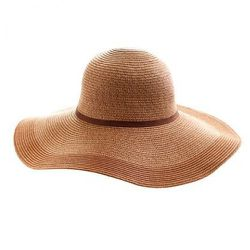 Two-Tone Straw Hat- J.Crew $38<br />No woman is summer-ready without a wide brimmed hat to keep those rosy cheeks from sun damage. This two-tone chapeau is great with a light dress or even just an Oak Street beach blanket.