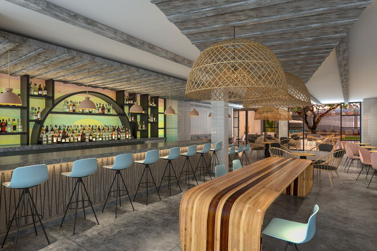 Rendering of the bar and dining room at Westerly Public House in Point Loma