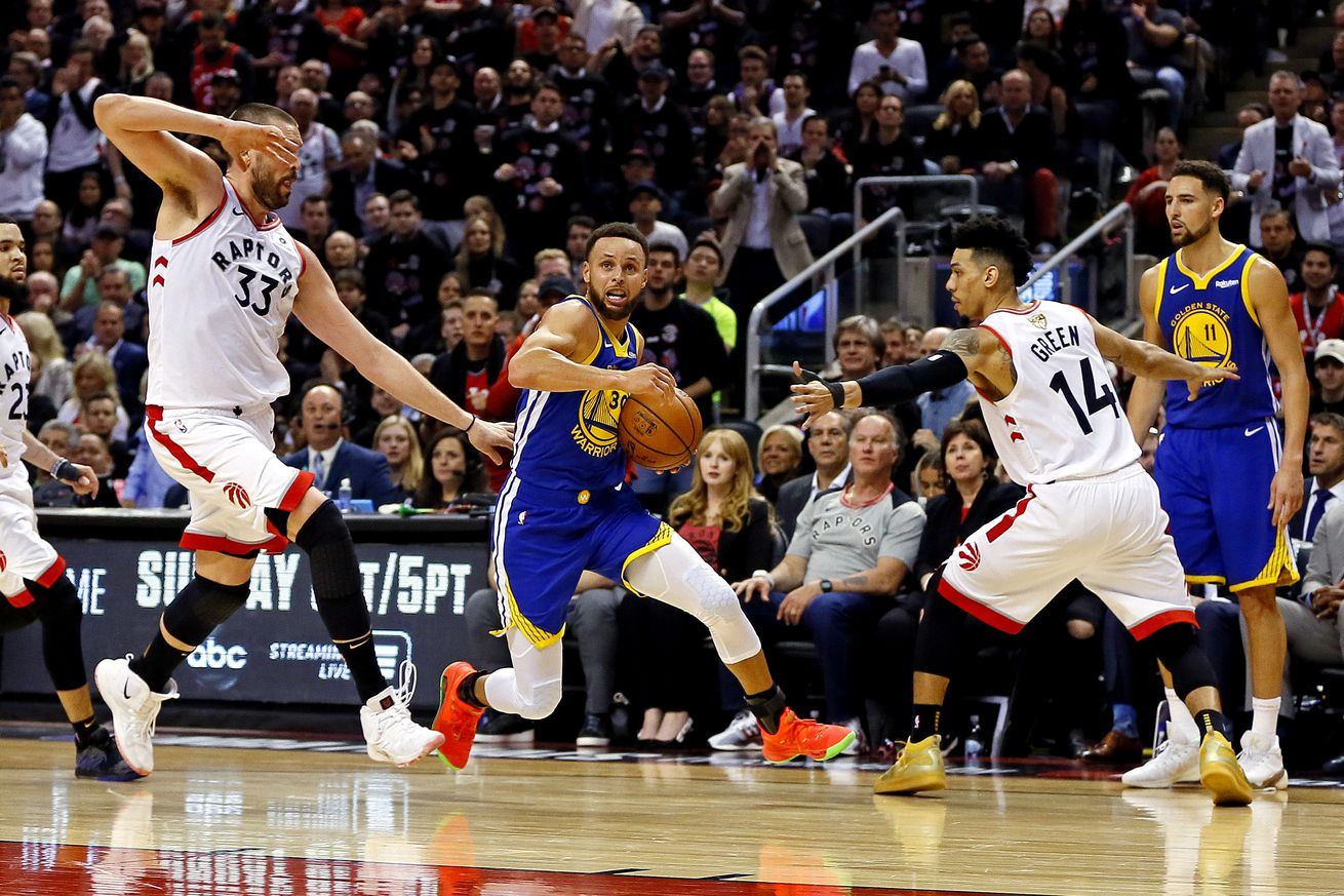 usa today 12800213.0 - Warriors underdogs at Raptors on Game 2 NBA Finals odds