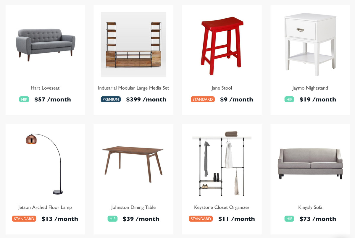 Feather Is A New Rental Company For Millennials Who Like Fancy