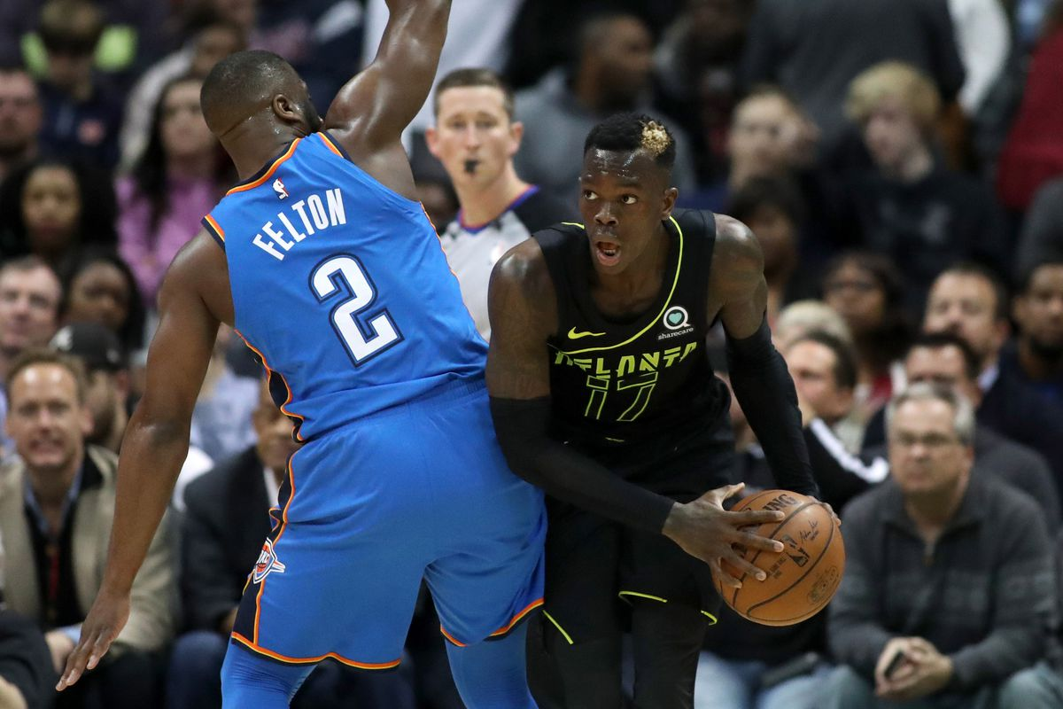 okc acquires dennis schroder for carmelo anthony in trade with