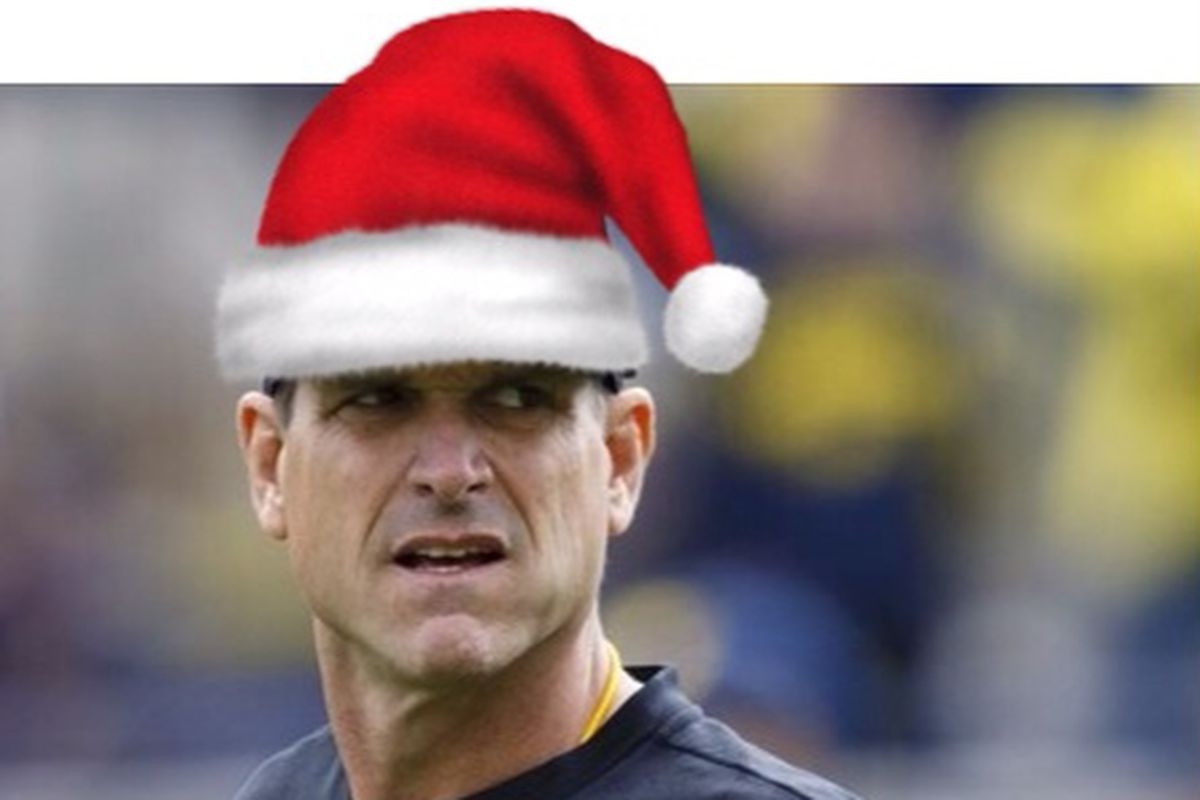 Image result for harbaugh christmas