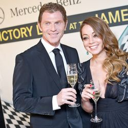 Bobby Flay and Marcela Valladolid.<br /><br />photo copyright Daniel Krieger Photography LLC
