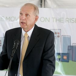 West Valley City Mayor Ron Bigelow speaks at the groundbreaking ceremony for the future Granger Medical Clinic in West Valley City on Wednesday, Aug. 5, 2015.