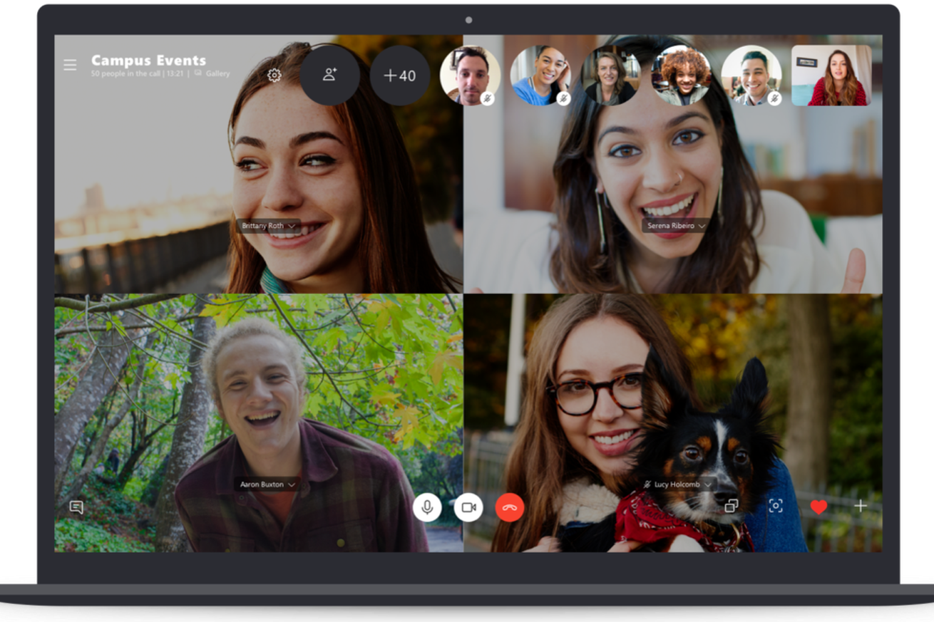 Microsoft's new 50-person group video chat feature for Skype