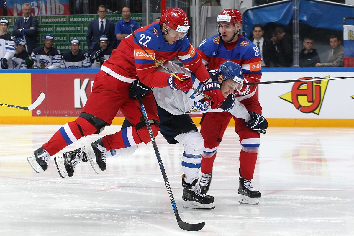 Nikita Zaitsev in the semifinal against Finland at the 2016 IIHF World Championships