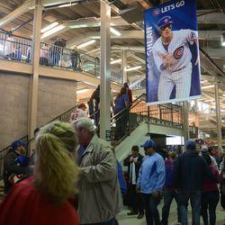 6:27 p.m. Third base line concourse -
