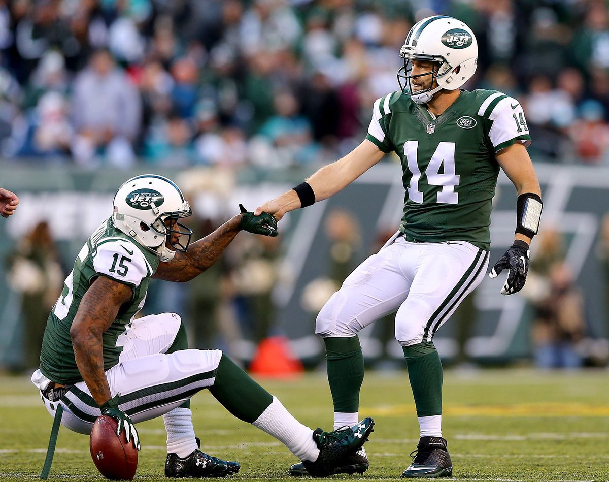 Brandon Marshall and Ryan Fitzpatrick (GettyImages)