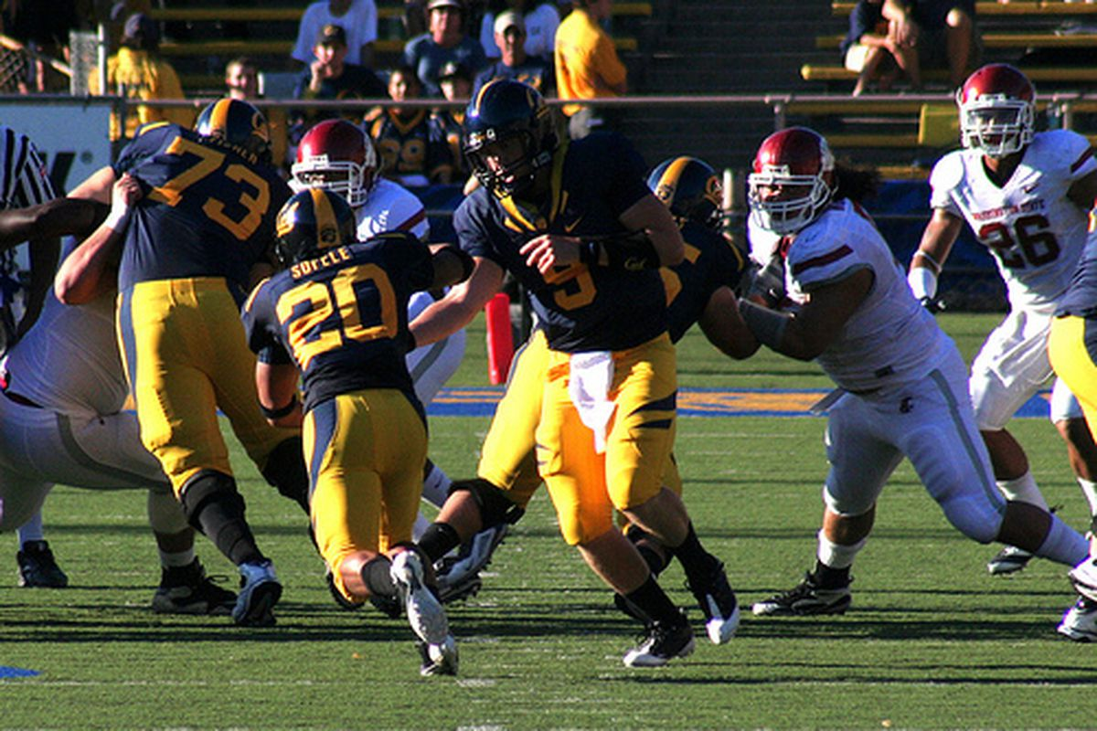 Keenan Allen (middle) will be making his mark as a Cal wideout in his freshman year.