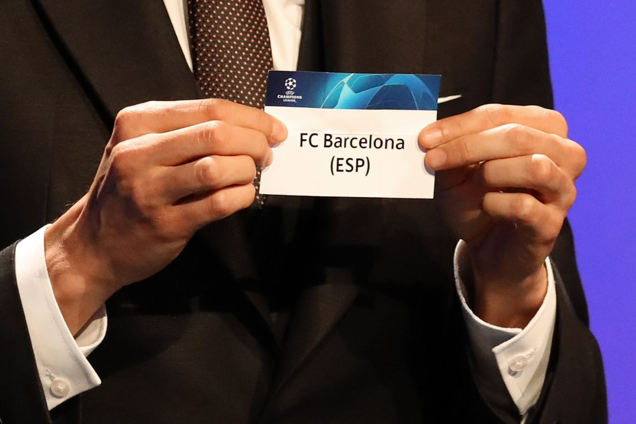 """When is the UCL draw and who can Barcelona face"""""""