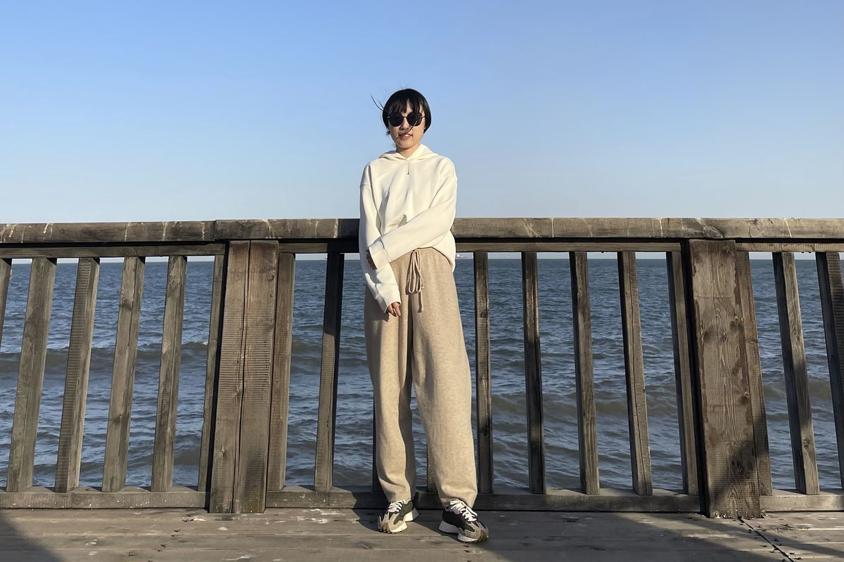 Monica Ma, seen here on the coast of Qinhuangdao in northern China's Hebei province, is among at least 500 students the Chinese government says have been rejected under a U.S. policy aimed at blocking Beijing from obtaining U.S. technology with possible military uses.