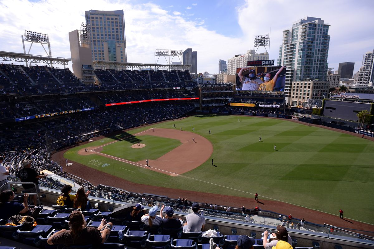 A general view of the interior of Petco Park during the eighth inning between the San Diego Padres and the San Francisco Giants.