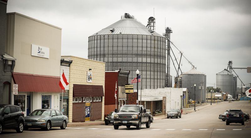 The business district of Brooklyn, Iowa, Mollie Tibbetts's hometown