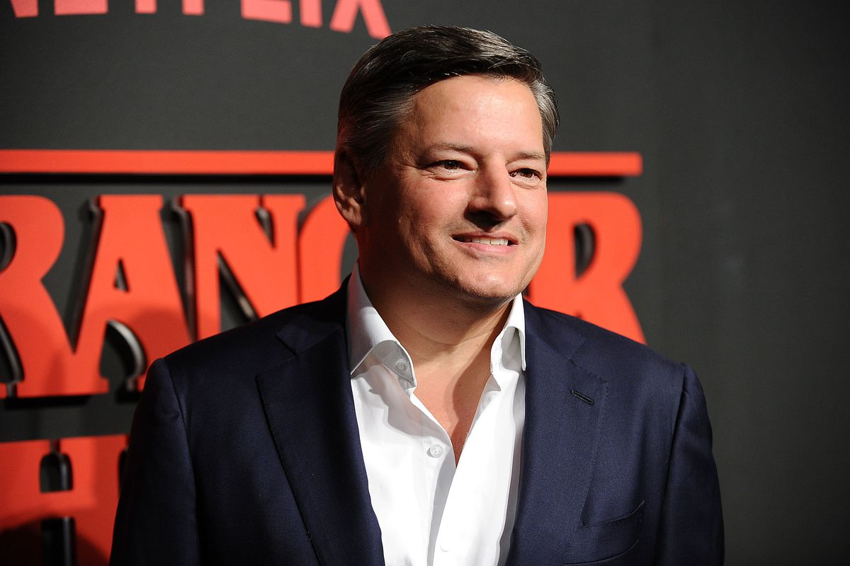 Ted Sarandos, chief content officer for Netflix, at the July 11 premiere of <em>Stranger Things</em> in Los Angeles.