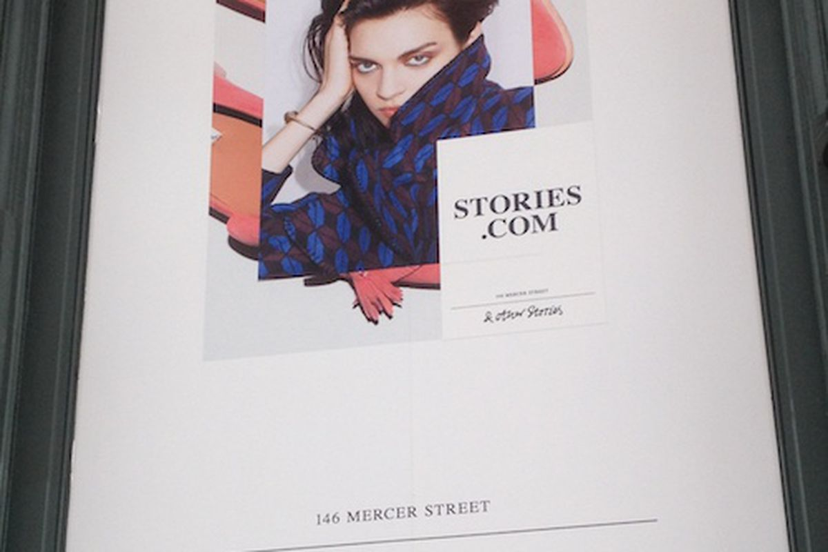 & Other Stories signage from Mercer Street
