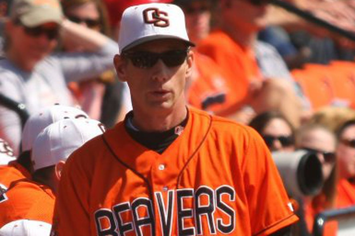 Rate Pat Casey, the Pac-10 Coach of the Year, using the Beaver-tail scale.  <em>(Photo by Andy Wooldridge)</em>
