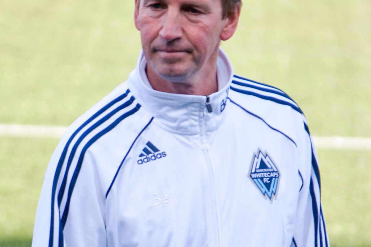 Then-head coach and technical director Richard Grootscholten at a Vancouver Whitecaps Residency USL PDL match last summer. (Benjamin Massey/Eighty Six Forever)