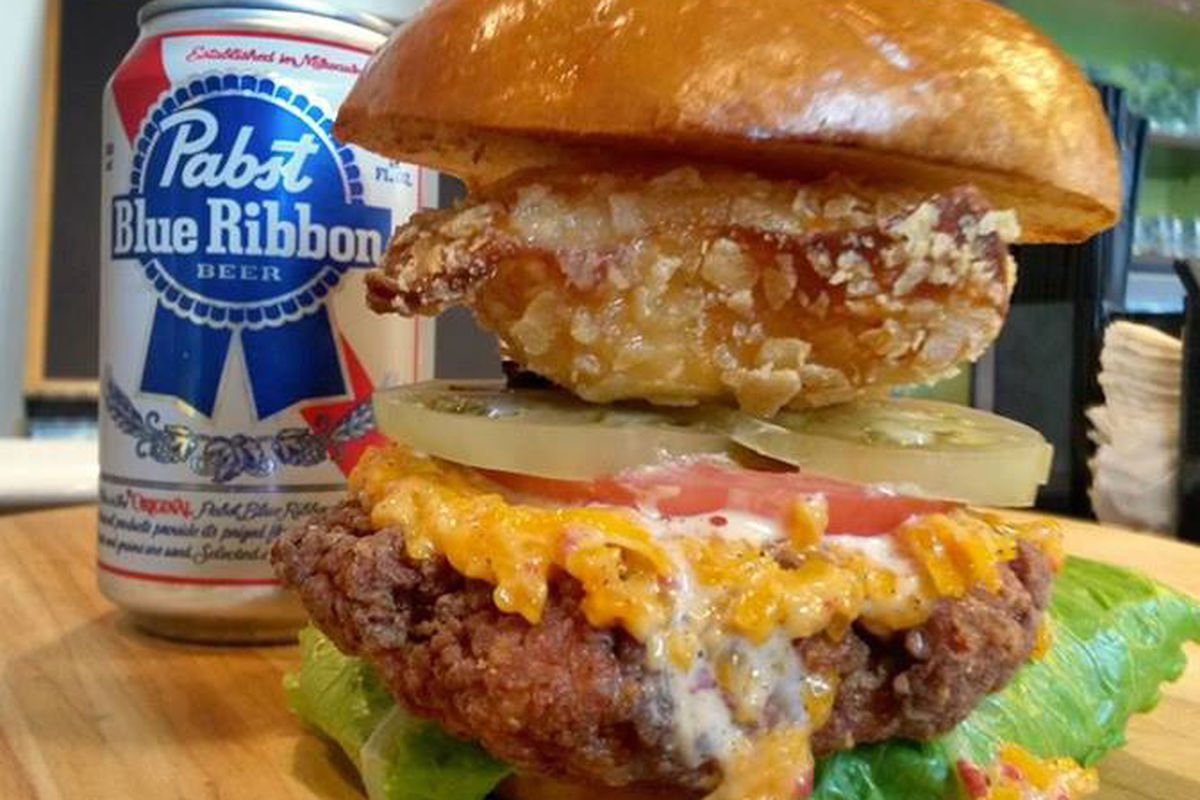Behold The Fried Chicken Beer Burger At Philly S Pyt Eater