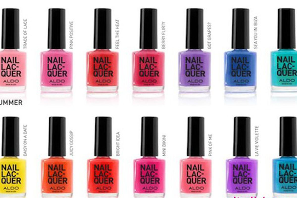 """Saying these are """"unbreakable"""" is pretty much begging us to test the theory. Image via <a href=""""http://www.nitrolicious.com/blog/2010/04/13/aldo-spring-summer-2010-nail-lacquer-collection/"""">Nitrolicious</a>."""