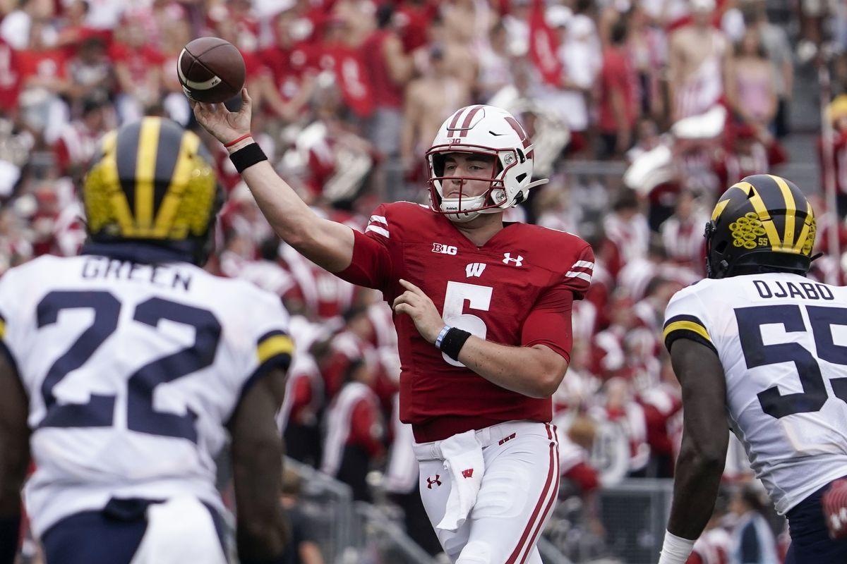 Wisconsin quarterback Graham Mertz is listed as questionable for Saturday's game against Illinois.