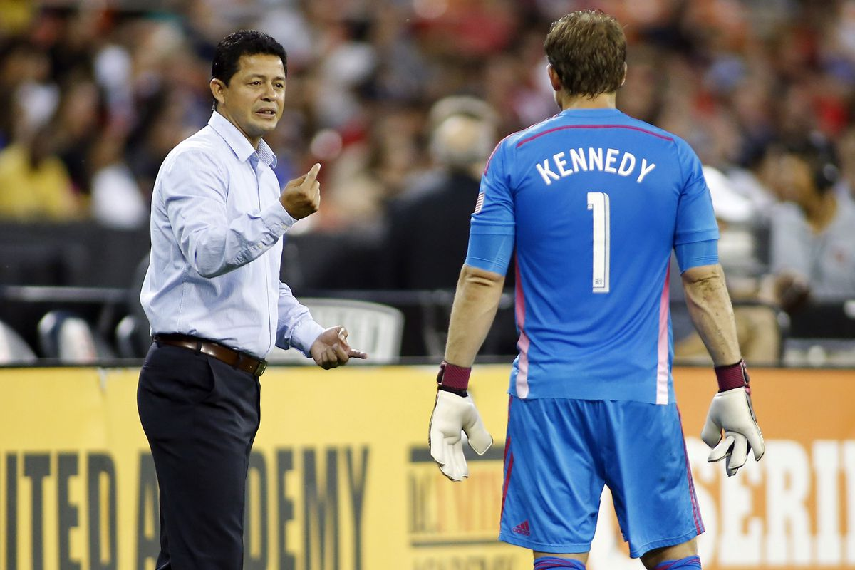 Manager Wilmer Cabrera and Goalkeeper Dan Kennedy, two of the key men in the Chivas USA fold