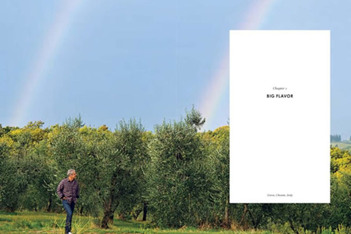 Eric Ripert, with double rainbow, from the cookbook Avec Eric