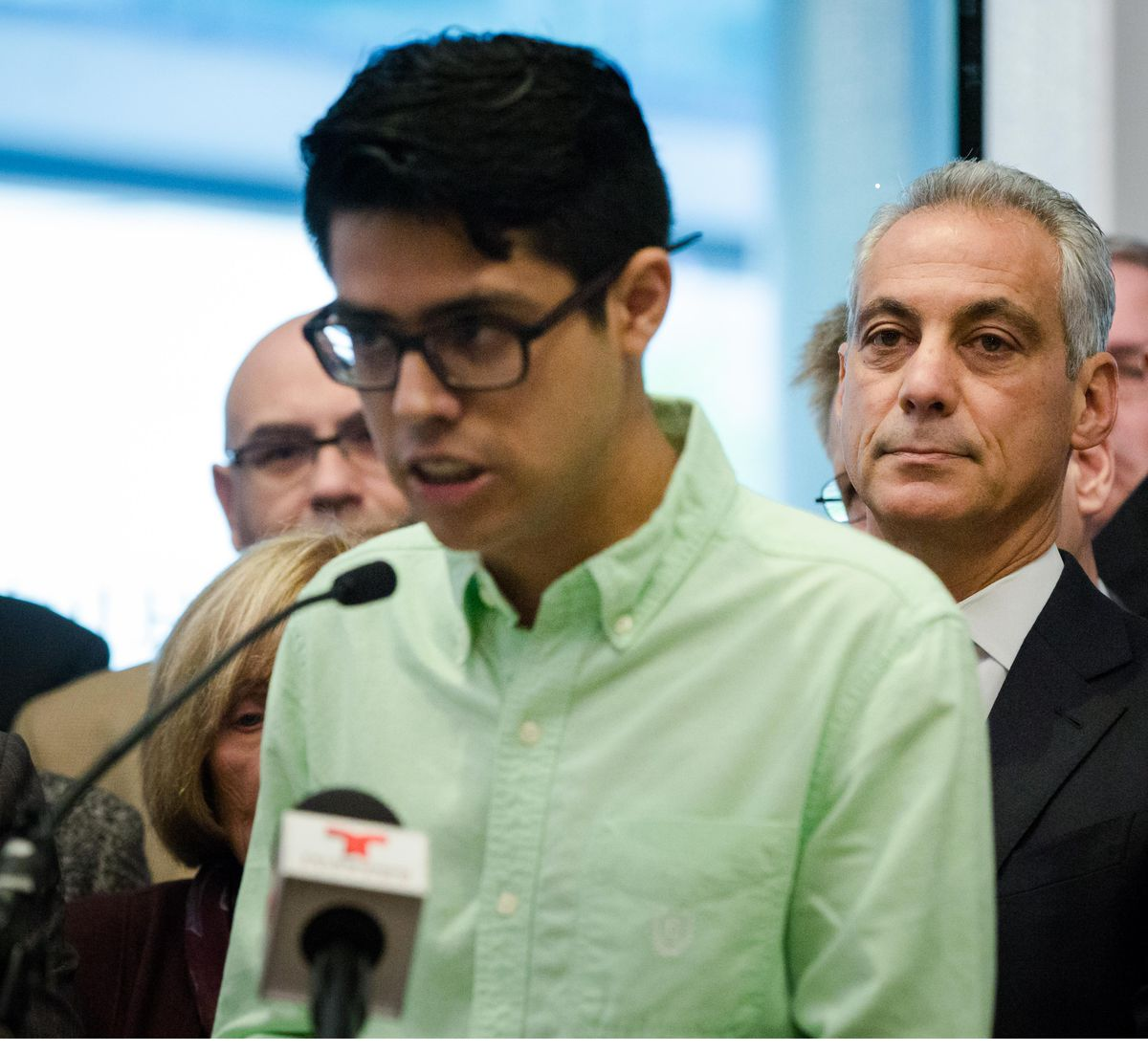 IIT student Luis Gomez said efforts by local officials don't go far enough to support to immigrants and sanctuary cities.   Santiago Covarrubias/Sun-Times
