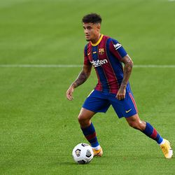 Coutinho started again for Barca