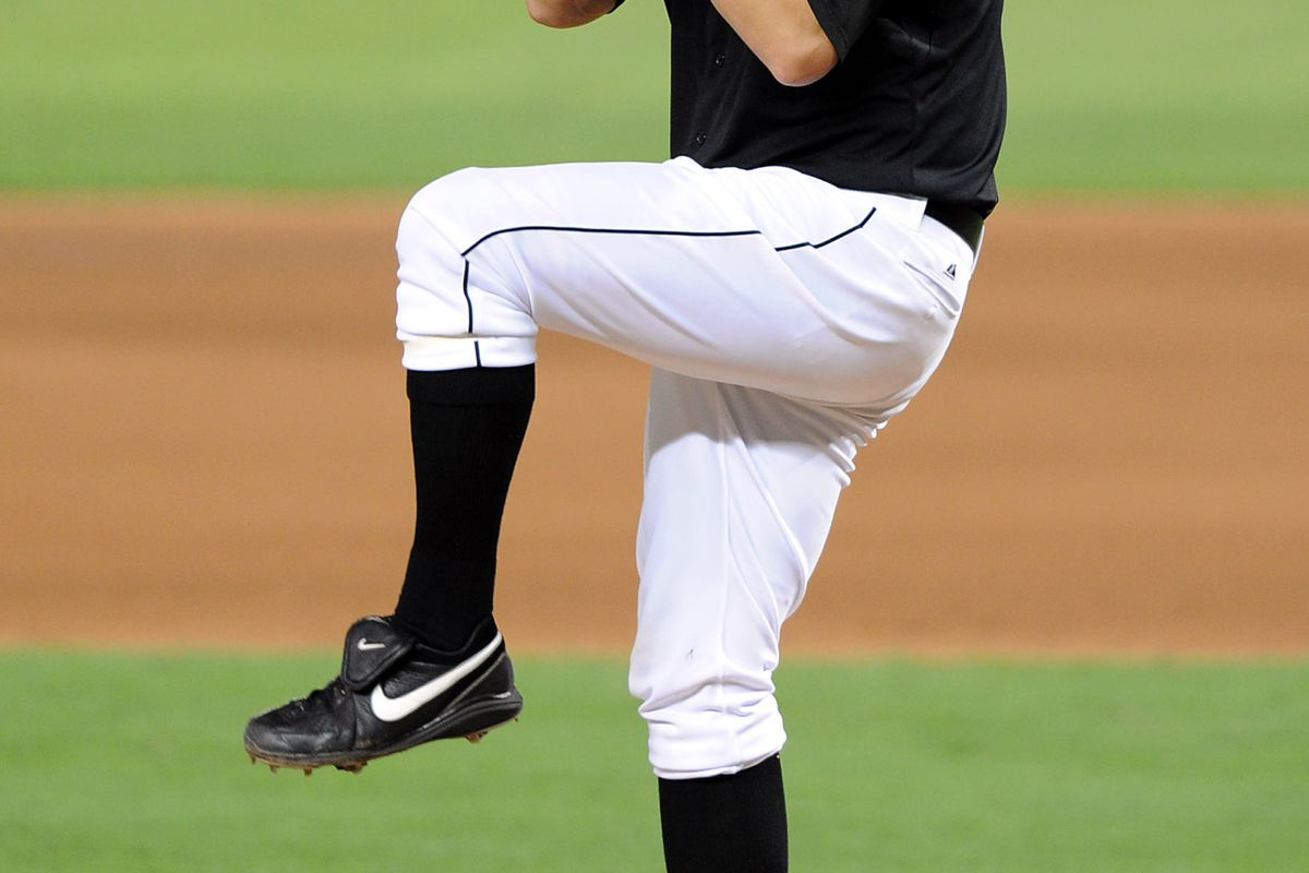 July 13, 2012; Miami, FL, USA; Miami Marlins starting pitcher Josh Johnson (55) at Marlins Park. Mandatory Credit: Steve Mitchell-US PRESSWIRE
