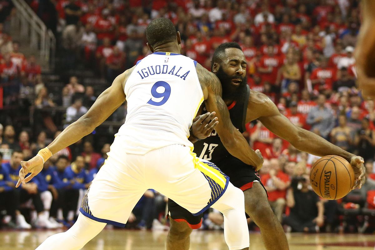 Andre Iguodala has officially joined his coach Steve Kerr in roasting  Harden s suspect footwork 57eb0f10a