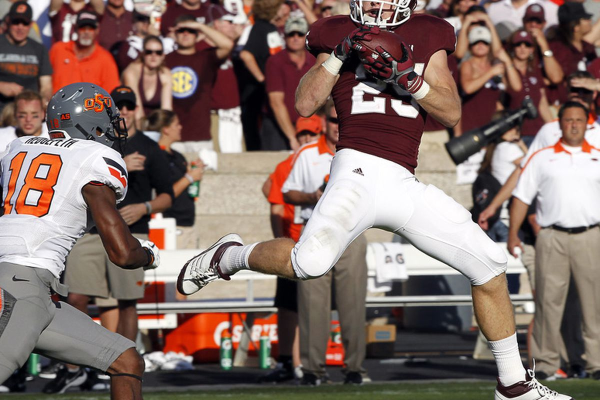 <em>Aggie weapon Ryan Swope looks to light up the scoreboard.</em> (Photo by Bob Levey/Getty Images)
