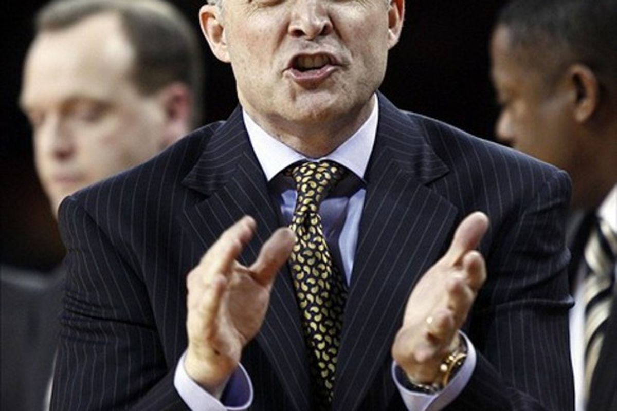 <em><strong>Coach Brian Gregory -- Kicking ass and taking names in recruiting.</strong>  Mandatory Credit: Mark L. Baer-US PRESSWIRE</em>