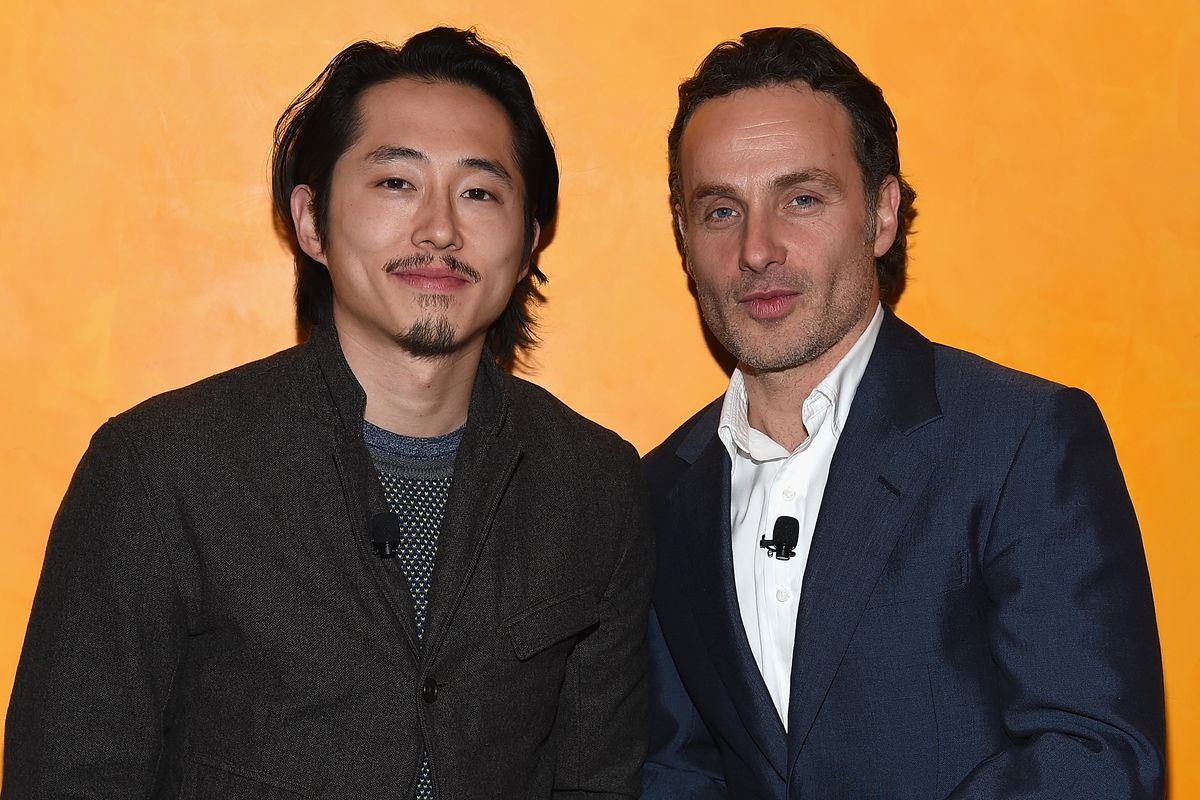 Steven Yeun and Andrew Lincoln of 'The Walking Dead.'