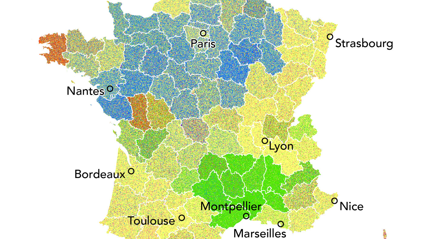 Map Of France Kisses.The Propensity Of Cheek Based Kisses In France Mapped Vox