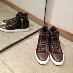 Wings and Horns brown high-tops Originally $420, now $210