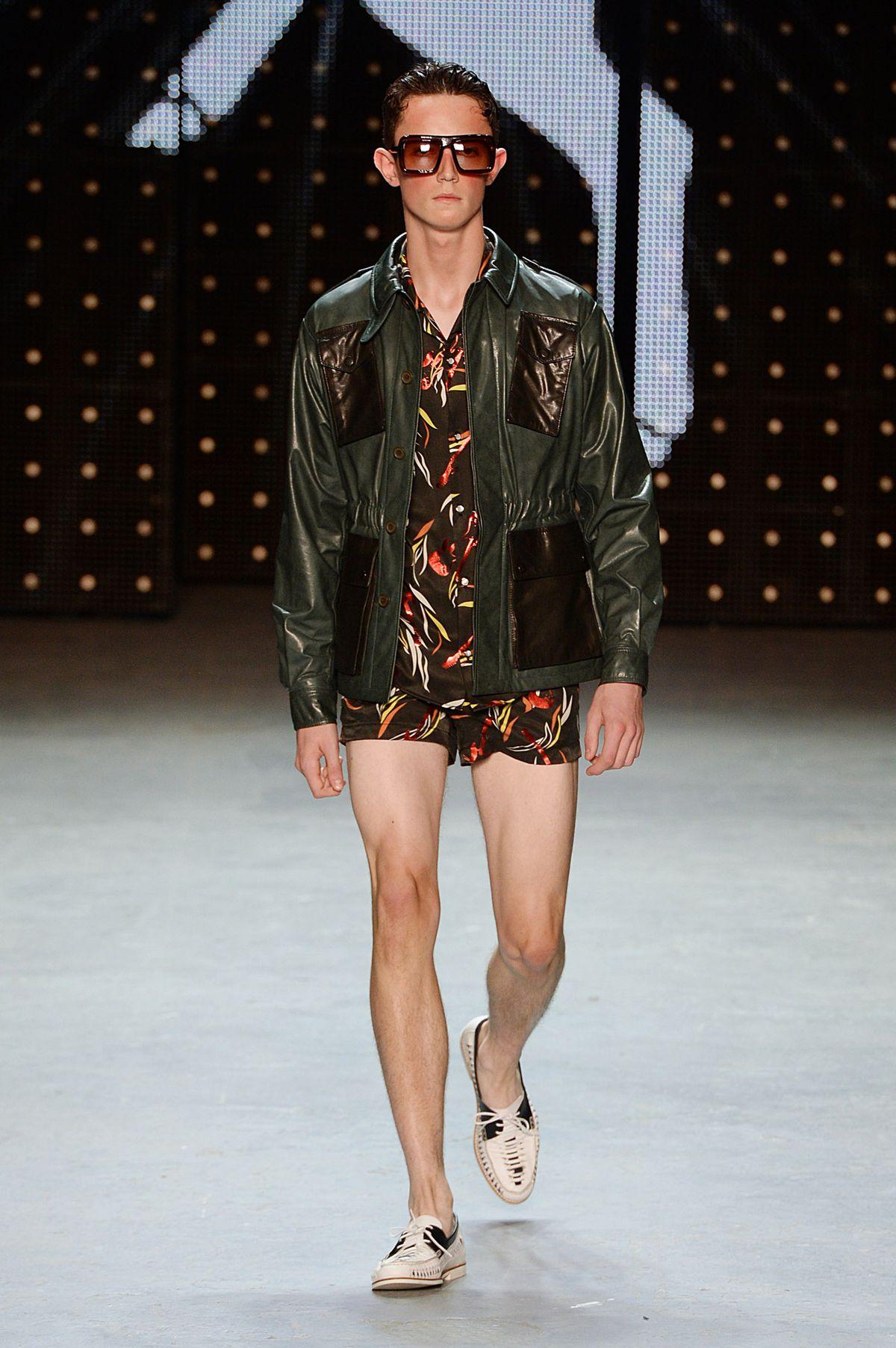 Male model on Topman's runway