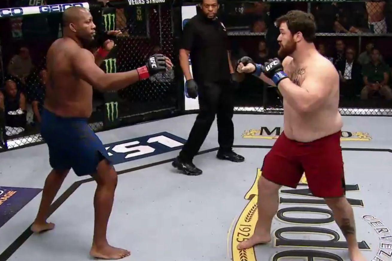 Michel Batista faces off with Justin Frazier on <em>The Ultimate Fighter 28</em>