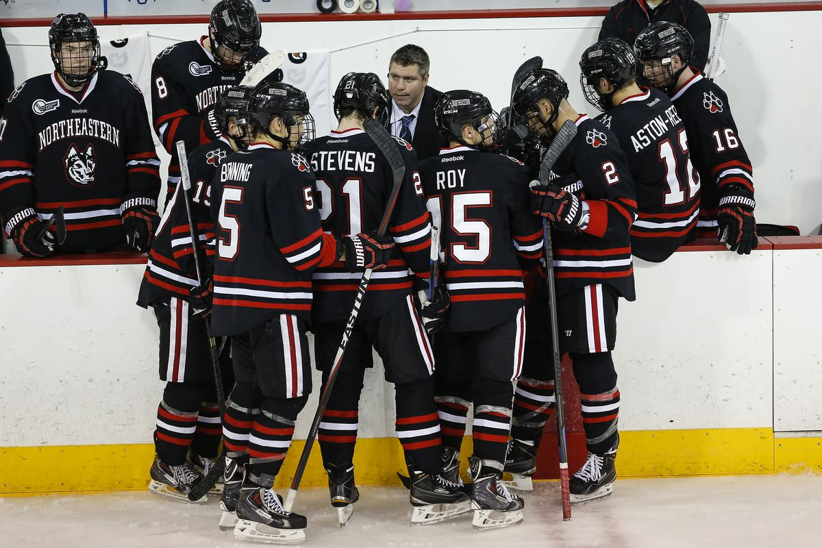 Jerry Keefe will guide Northeastern into Hockey East action against Boston University this weekend.